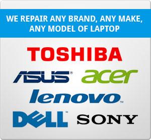 Toshiba, Asus, Acer, Lenovo, Dell, Sony