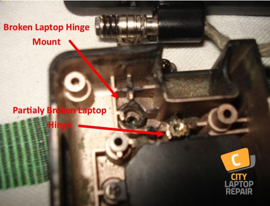 Broken Laptop Hinge